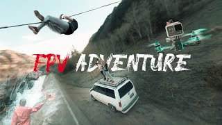 Fpv adventure! Insane footage (crashed my drone on the wrong side of the river) found a hot spring!