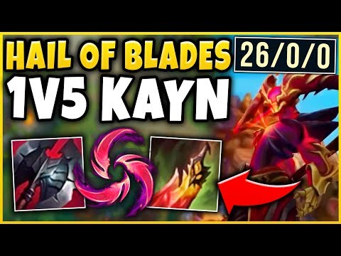 UNREAL DOMINATION WITH THIS *NEW* KAYN BUILD! 1V5 DESTRUCTION (26 KDA) - League of Legends