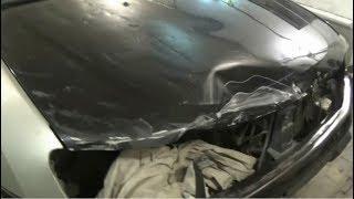 Renault Duster. ремонт капота. Body repair.
