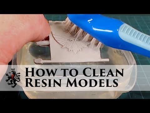 How to Clean Resin Models - Removing Mold Release Agent - Forge World