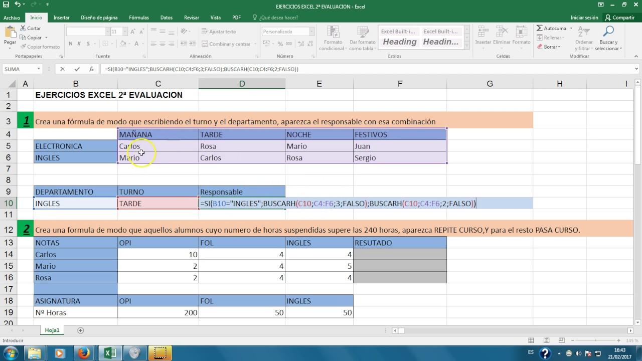 ejercicios excel avanzado resueltos pdf
