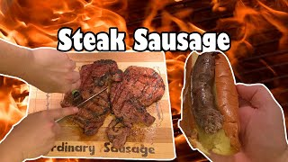 Grilled Ribeye Steak Sausage