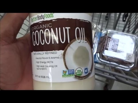 Coconut Oil And Grocery Shopping In Walmart Youtube