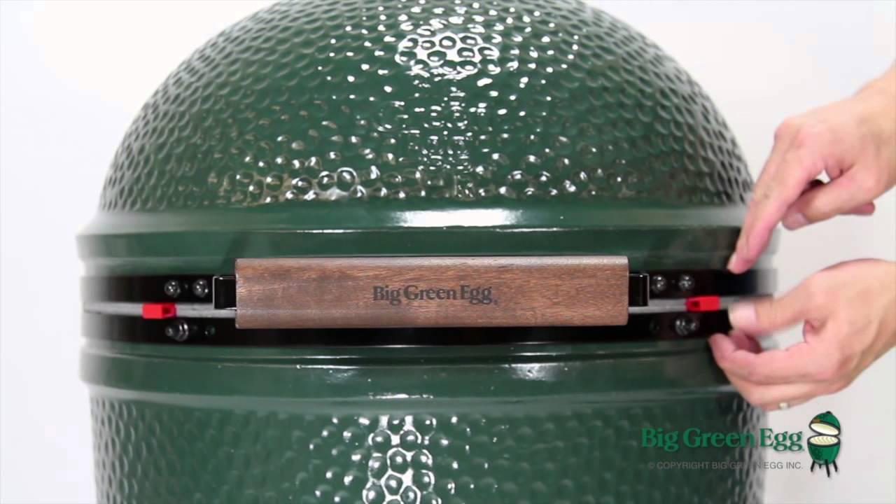 Large Big Green Egg Assembly Youtube