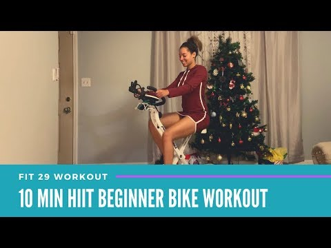 10 MINUTE BEGINNER HIIT BIKE WORKOUT | AT HOME WORKOUT