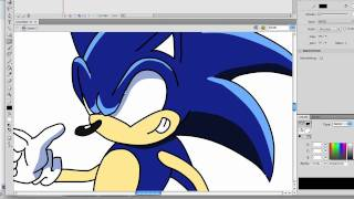 How I Draw Sonic--Nazo Unleashed Style