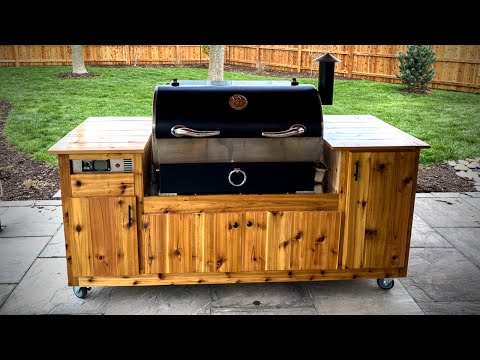 DIY Rec Tec 700 Grill Cart - Class up that Pellet Smoker with a Built-In Look!