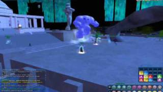 City of Heroes - Pulling Winter Lord under Atlas