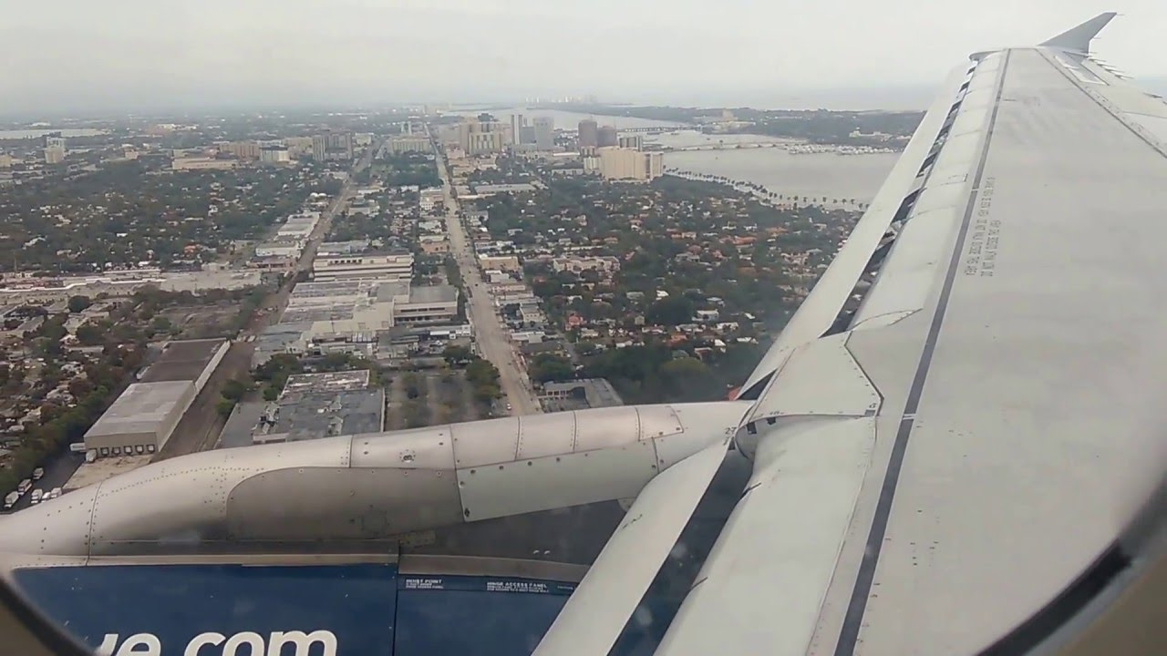 Landing At West Palm Beach Airport In Florida