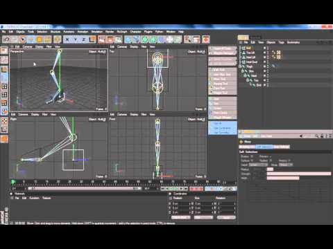 how to make a minecraft character in cinema 4d