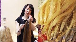 Наращивание волос. Как выбрать волосы для наращивания. Как ухаживать за нарощенными волосами.(Данное видео размещено на основании лицензии Creative Commons -- Attribution (разрешено повторное использование). Наращи..., 2014-02-19T22:01:37.000Z)