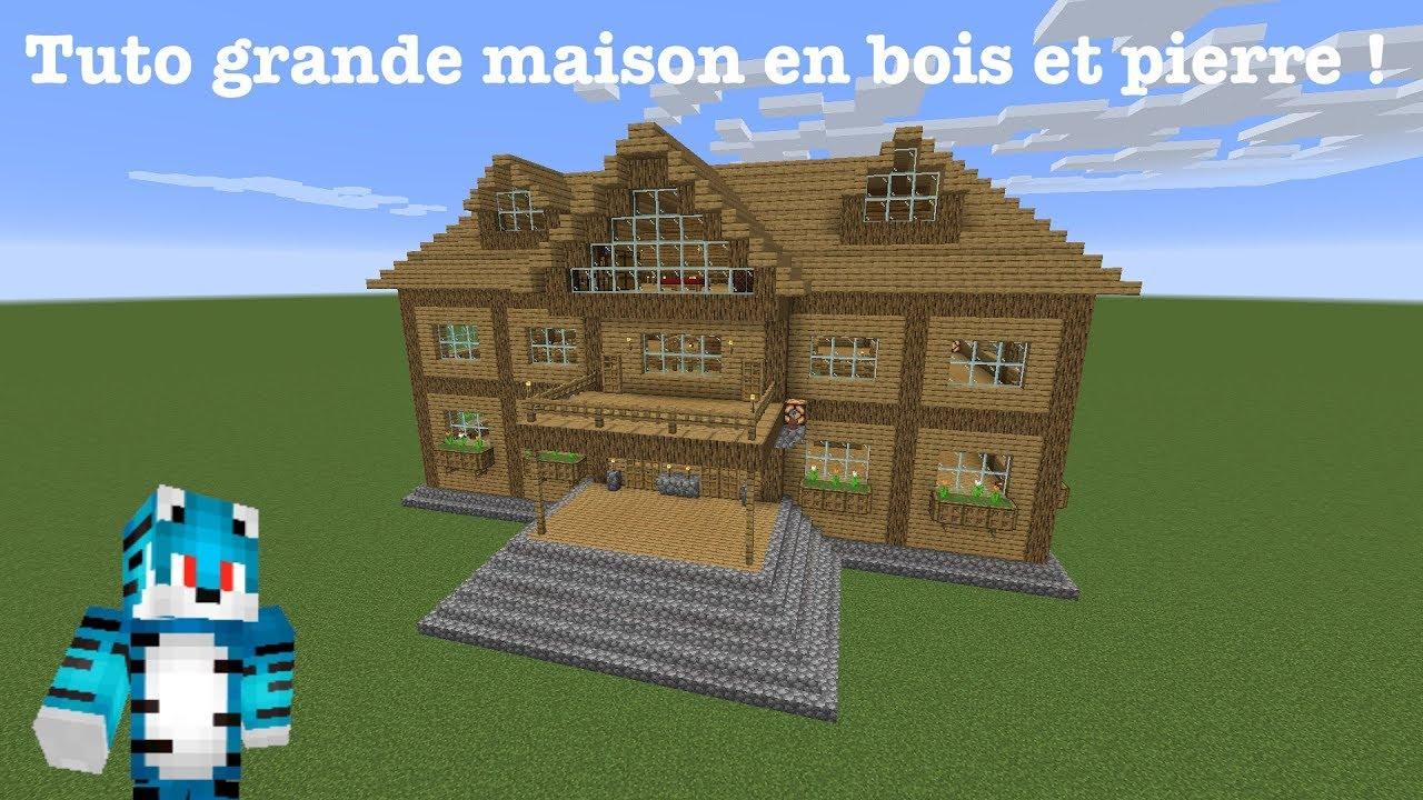 Tuto Grande Maison En Bois Pierre Minecraft Tuto Youtube