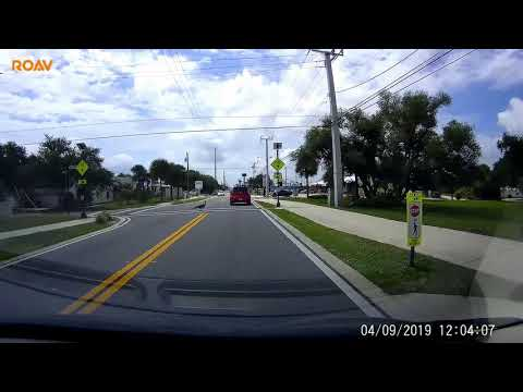 Curtis - Peacock Uses Crosswalk In Cape Canaveral Florida
