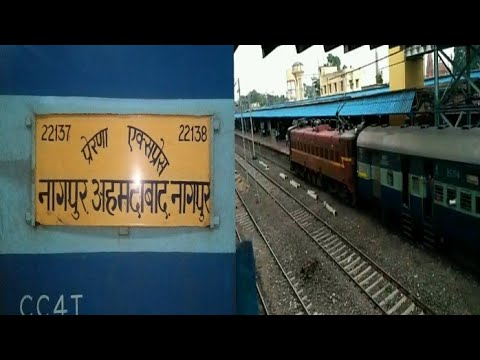 MY FAVORITE TRAIN.!! 22137 Nagpur - Ahmedabad Prerana SF Express Arriving At Jalgaon Jn.