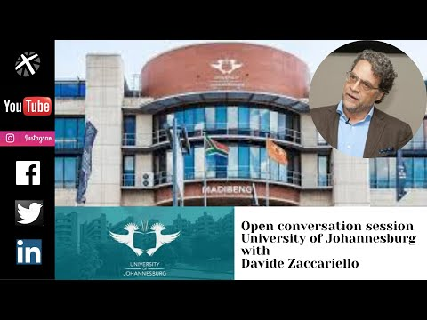 Davide Zaccariello - Open Conversation Session at University of Johannesburg