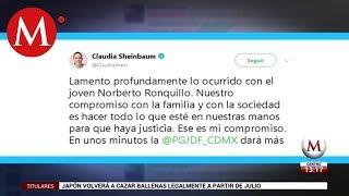 Sheinbaum lamenta la muerte de Norberto Ronquillo