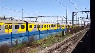 Shosholoza Meyl TRAIN leaving behind Johannesburg in South AFrica (September 2016)