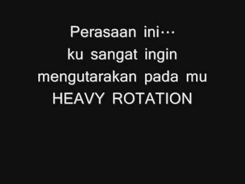 JKT48 HEAVY ROTATION LYRICS.
