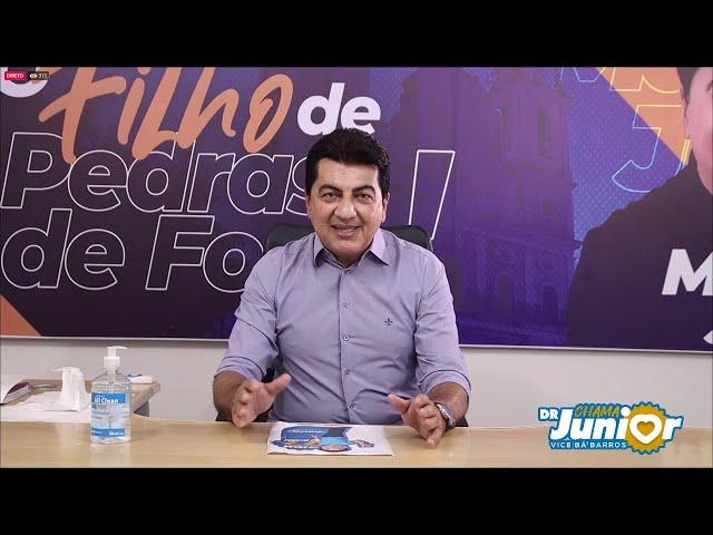 LIVE DA VITÓRIA DE DR. JUNIOR PREFEITO DE PEDRAS DE FOGO