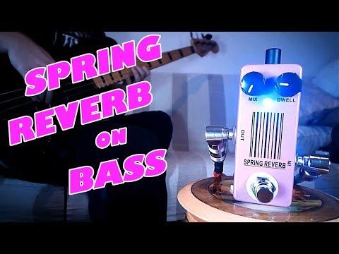 MOSKY Spring Reverb/Malekko Omicron Clone (Bass Demo)