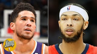 Devin Booker or Brandon Ingram: Who has been better this season? | The Jump Video
