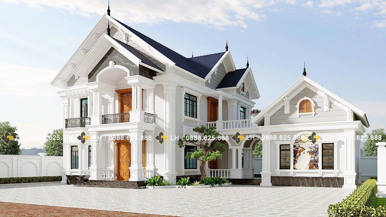 Mẫu biệt thự 2 tầng, kiến trúc tân cổ điển đẹp từng góc cạnh hãy XEM NGAY!