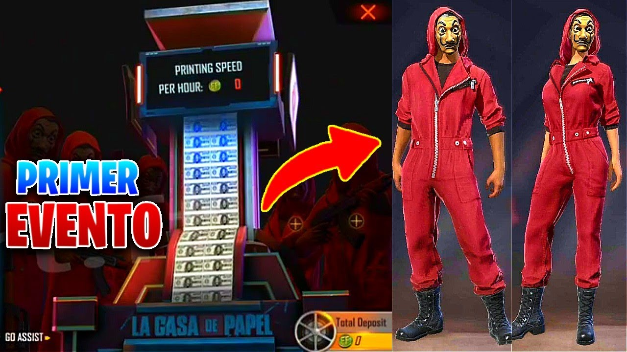 COMO FUNCIONA el PRIMER EVENTO de LA CASA DE PAPEL en FREE FIRE