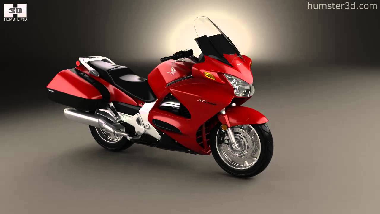 Honda ST1300 2013 by 3D model store Humster3D.com - YouTube