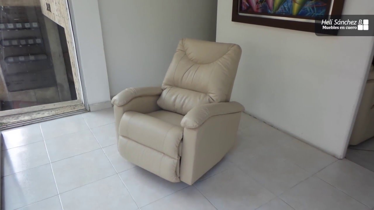 Silla Reclinable en Cuero 100% Natural - YouTube