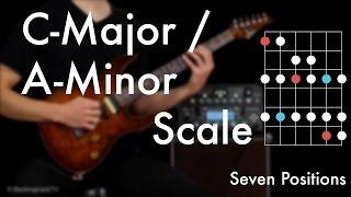 C Major / A Minor Scale - Seven Positions