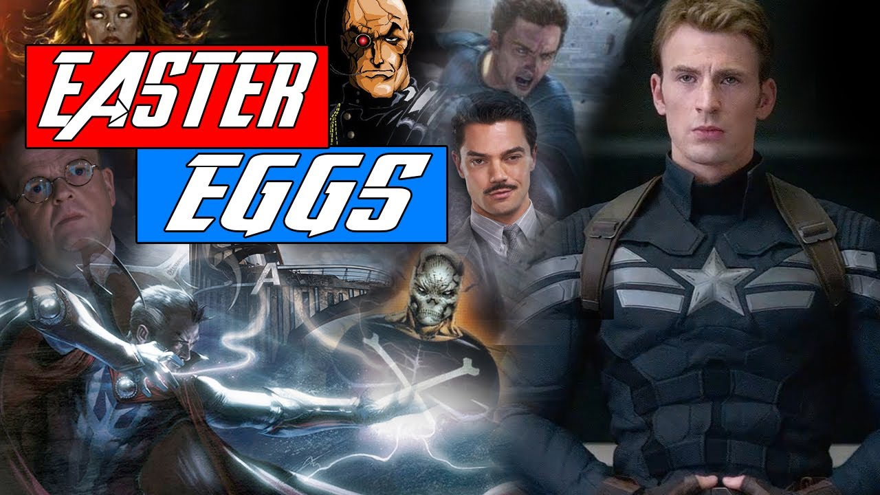 Captain America The Winter Solider - ALL EASTER EGGS - YouTube
