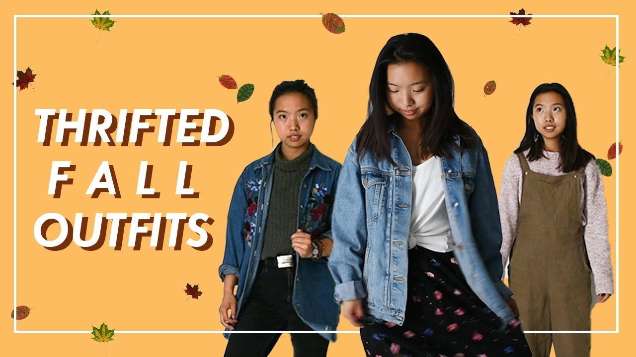 [VIDEO] - Thrifted Fall Outfits   Jean Jackets, Overalls, & Sweaters! 5