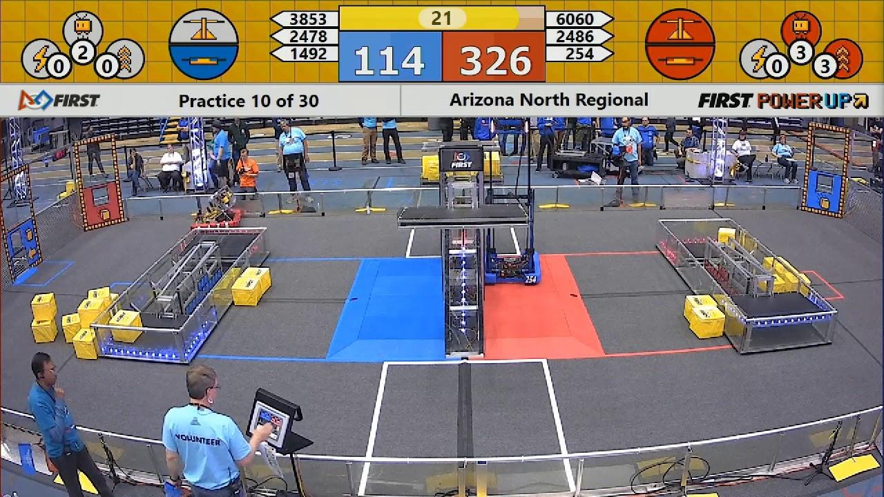 FRC 2018 Arizona North Regional || Practice 10 of 30 || 2478 vs. 254 ...
