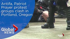 Antifa, Patriot Prayer protest groups clash in Portland, Oregon