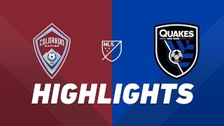 Colorado Rapids vs. San Jose Earthquakes | HIGHLIGHTS - August 10, 2019