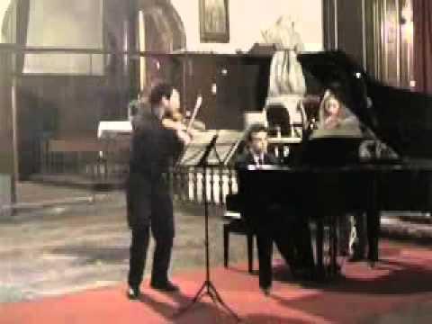 Debussy : Sonata for violin & piano (Gaétan Biron, violin - Damien Luce, piano) - live