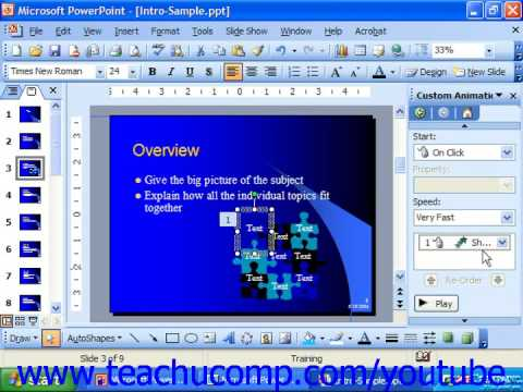 Powerpoint 2003 tutorial adding custom animation microsoft powerpoint 2003 tutorial adding custom animation microsoft training lesson 184 toneelgroepblik Images