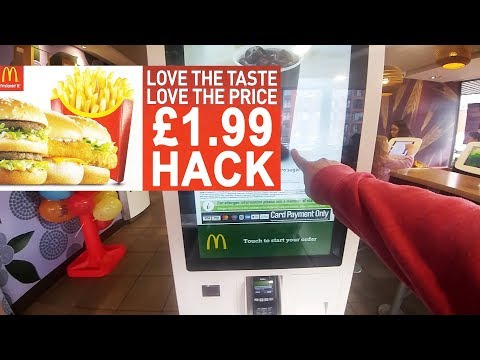 Working Hack 2020 McDonald's £1.99 Cheap Meal Deal Self Service Trick - Not FREE