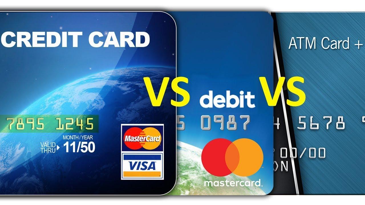 Credit Card vs. Debit Card vs. ATM card - Comparison
