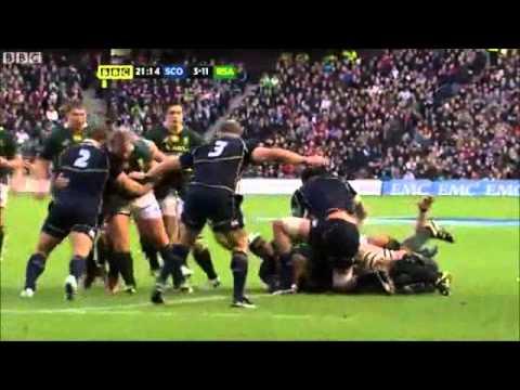 Springboks v Scotland 2012 Highlights