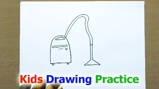 How to Draw a Vacuum Cleaner