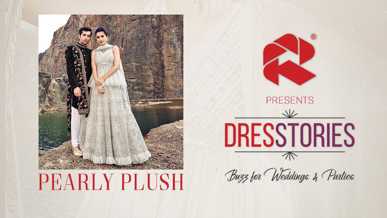 PEARLY PLUSH | DRESSTORIES by Rajwadi | Indowestern Lehenga Choli & Sherwani