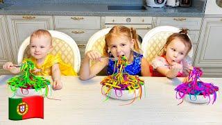 História Sobre Macarrão Colorido Para Crianças e Músicas Infantis | Five Kids