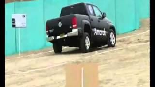 Внедорожный тест Volkswagen Amarok на полигоне.  Amarok-club.ru