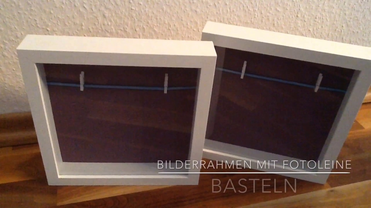 diy bilderrahmen mit fotoleine basteln youtube. Black Bedroom Furniture Sets. Home Design Ideas