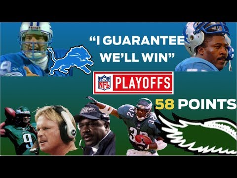 NFL Playoffs: Eagles MASSACRE Lions – Lomas GUARANTEES, Scott Mitchell IMPLODES
