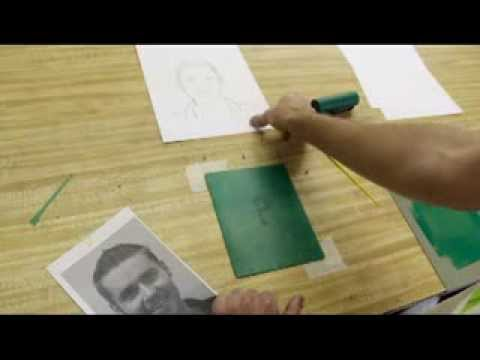 how to make clay monoprints