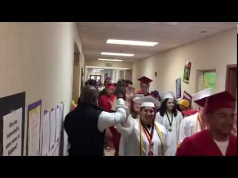"Franklin Pierce High School's Inaugural ""Grad Parade"""