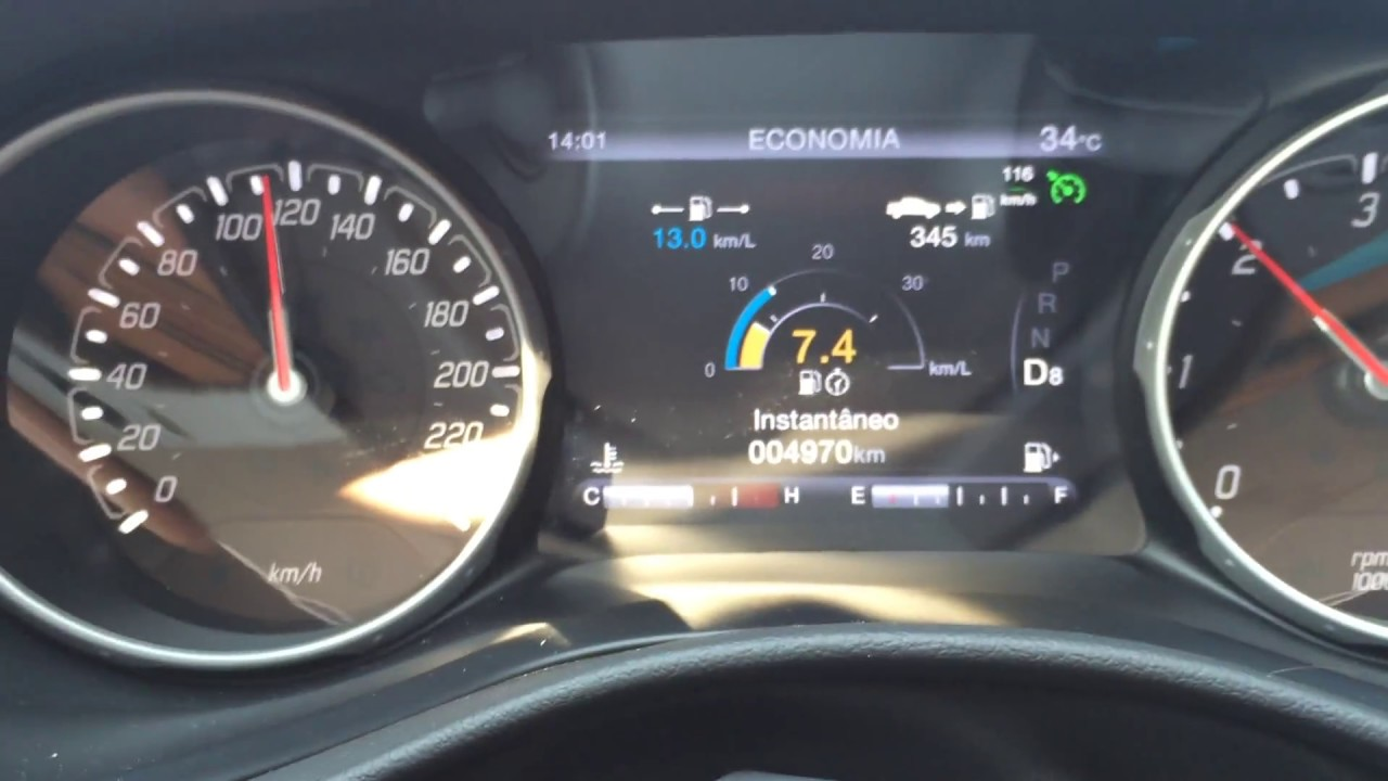 Mostrando O Consumo Da Fiat Toro Volcano Na Estrada