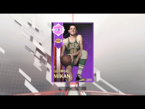 Lakers Historic Collection Complete: Amethyst George Mikan Reward (NBA 2K18: MyTeam)